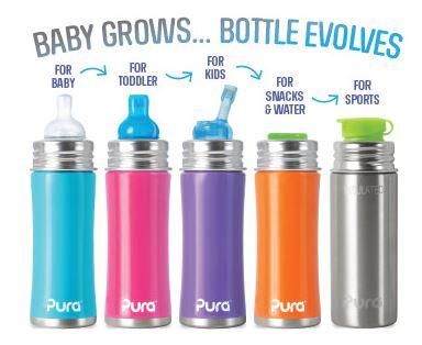 Duurzame babyfles, drinkfles, tuitfles Pura